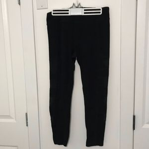 Black Workout Pants W/ Mesh Side Panels